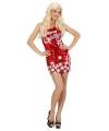 Dames kerstkleding pailletten jurkje